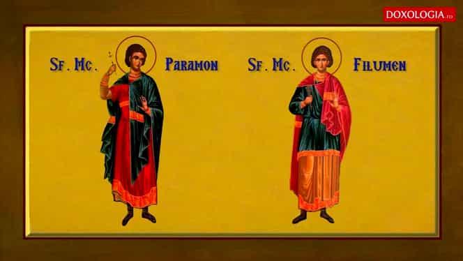 Calendar ortodox, vineri, 29 noiembrie. Sunt pomeniți Sfinții Mucenici Paramon, Filumen și Valerian. Zi de post