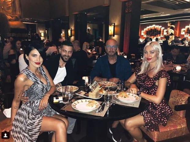 Adelina Pestriţu şi Virgil Steblea au ieşit în oraş alături de Raluca şi Walter Zenga. Imagine de la cina celor patru