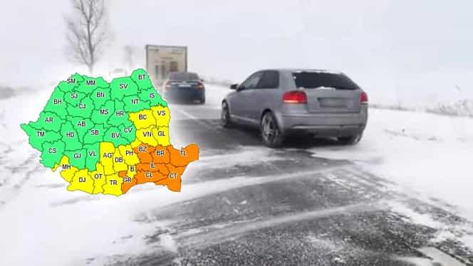 Prognoza meteo 28 februarie. Cod portocaliu de ninsori şi viscol