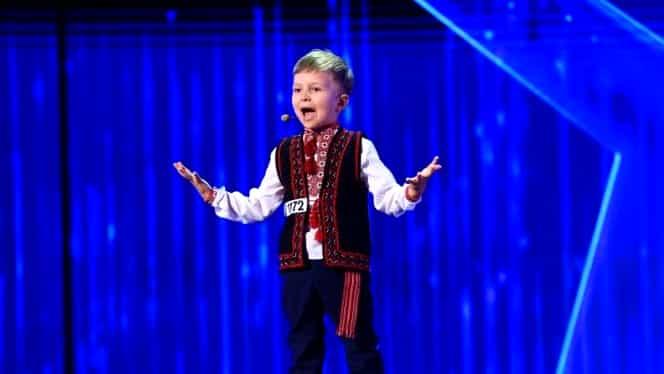 Basarabeanul de 4 ani care a înduioșat România cu o poezie despre unire. Momentul de la Românii au talent, aplaudat în picioare
