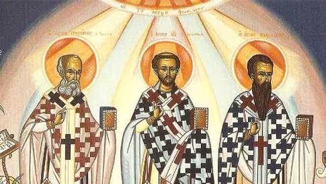 Calendar ortodox: joi, 30 ianuarie 2020. Sunt pomeniți Sfinții Trei Ierarhi