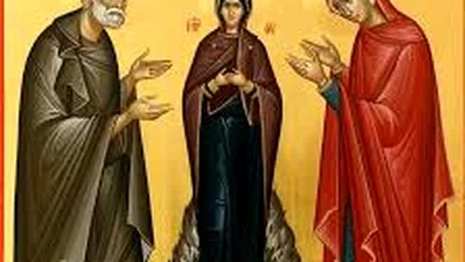 Calendar ortodox 9 septembrie. Sunt prăznuiți Ioachim şi Ana, bunicii lui Iisus