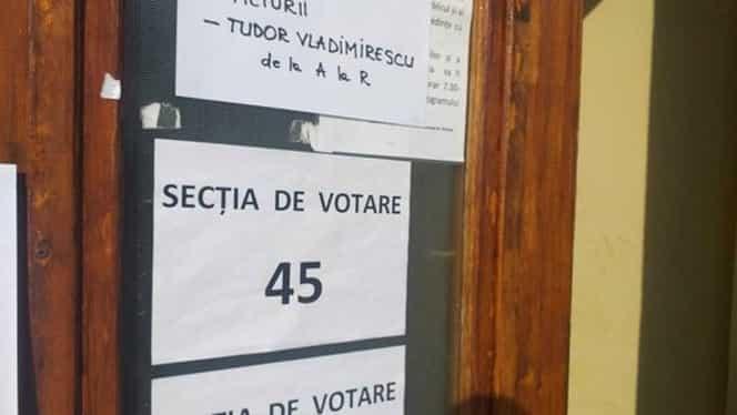 Record greu de egalat la o secție de vot din Galați. S-a prezentat doar un singur alegător