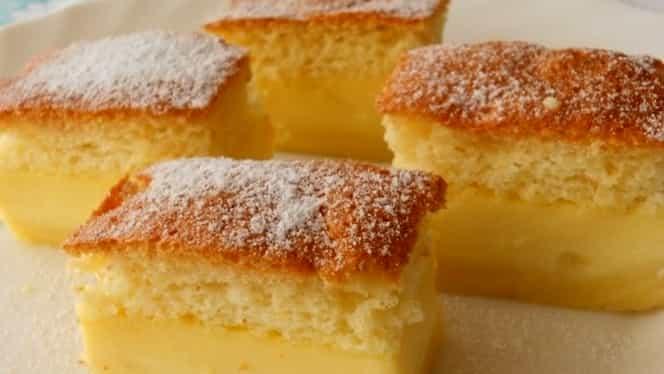 Rețetă de prăjitură deșteaptă. Chiar se prepară singură