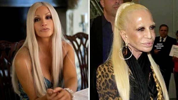 """Cele mai multe dintre vedetele din galeria foto au făcut exces de botox dar și de operațiile de mărire a buzelor și a bustului. În plus, solarul a făcut ca infățișarea unor celebrități precum Donatella Versace să nu mai fie niciodată aceeași. La 63 de ani, vedeta a ajuns să arate """"ca o mumie"""", după cum scriu toate publicațiile din presa internațională."""