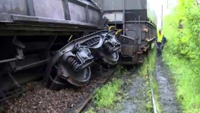Circulația feroviară între București și Craiova este blocată, după deraierea unui tren mărfar