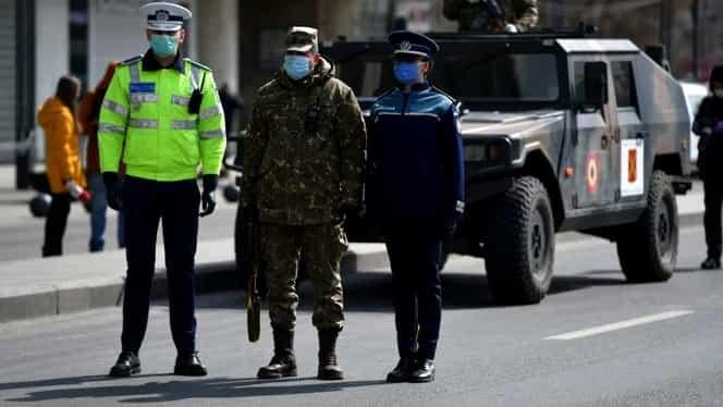 În jur de 10.000 de români, amendaţi pentru că au plecat de acasă fără motiv, în ultimele 24 de ore. Suma totală a amenzilor dată a ajuns la 10 milioane de euro