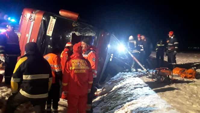 Accident rutier cu un autocar la Mărășești!