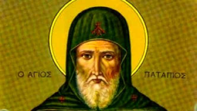Calendar ortodox pentru 8 decembrie 2019. Este pomenit Sfântul Patapie în Duminica Tămăduirii femeii gârbove