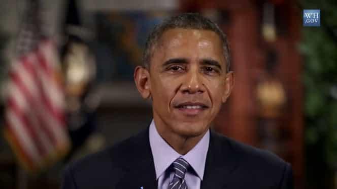 VIDEO / Barack Obama, la premiile Grammy 2015
