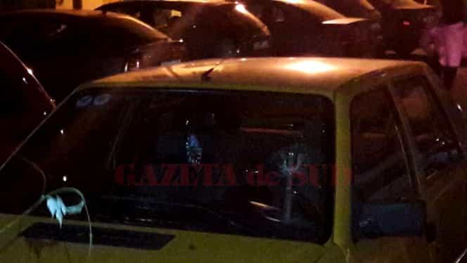 Un cilindru căzut din cer s-a înfipt într-o mașină din Craiova!