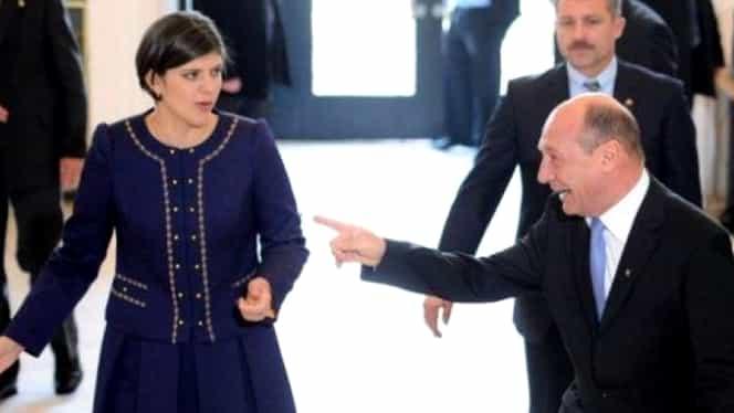 """Traian Băsescu o atacă din nou pe Kovesi: """"Au extras-o frumos și au pus-o la păstrare la Bruxelles"""""""