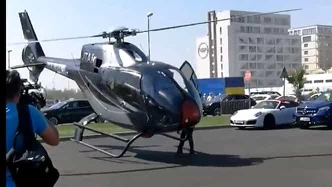 Video! Accident aviatic în parcarea unui club de pe litoral! Elicopterul era să decapiteze un om!
