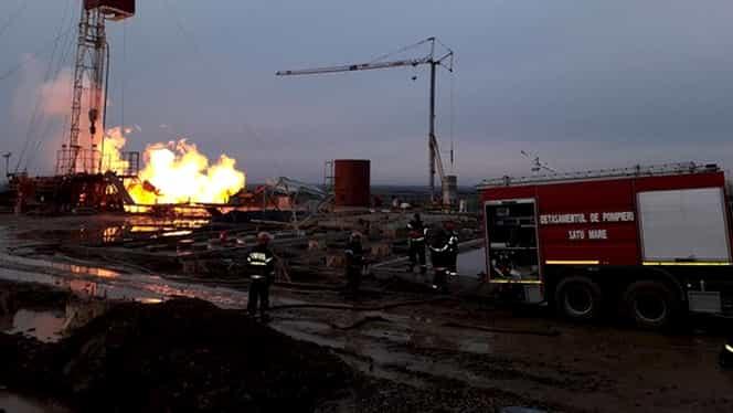 Incendiul de la sonda de gaze din Satu Mare continuă! Sunt aşteptaţi experţi din Canada!