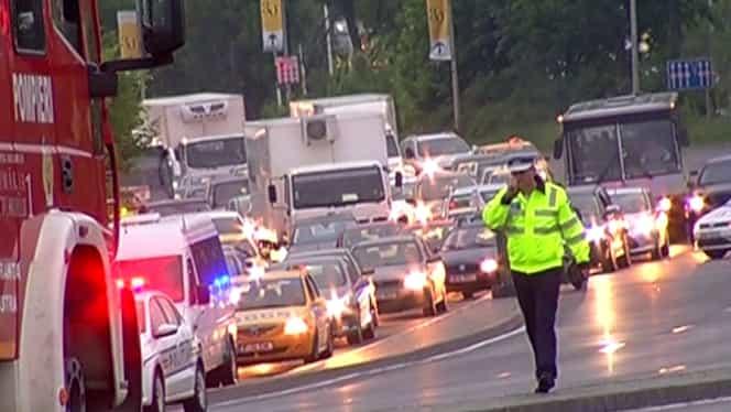 Accident în lanț pe DN1, la Ciolpani! Circulația este restricționată