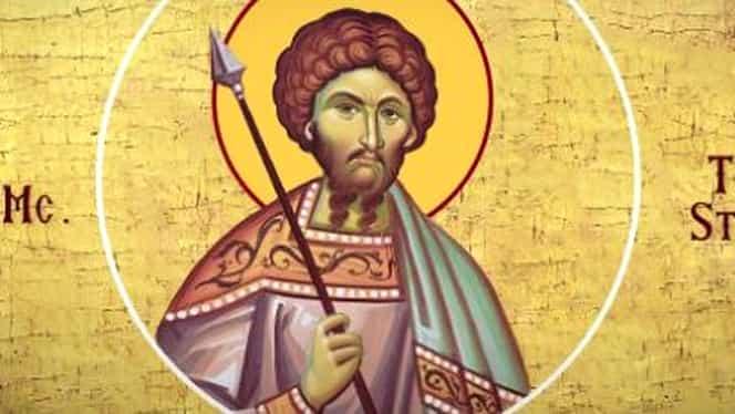 Calendar ortodox 8 februarie: Sfântul Mare Mucenic Teodor Stratilat