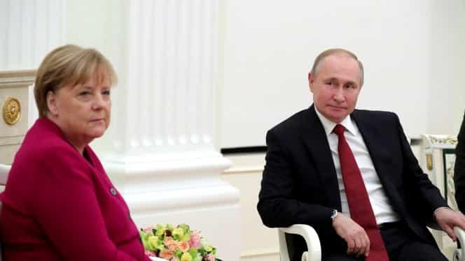 Angela Merkel și Vladimir Putin, discuții la Moscova despre criza din Iran