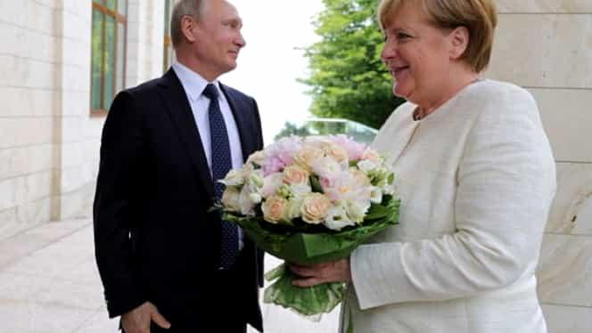 "Vladimir Putin, ""mesaj ascuns"" transmis Angelei Merkel"