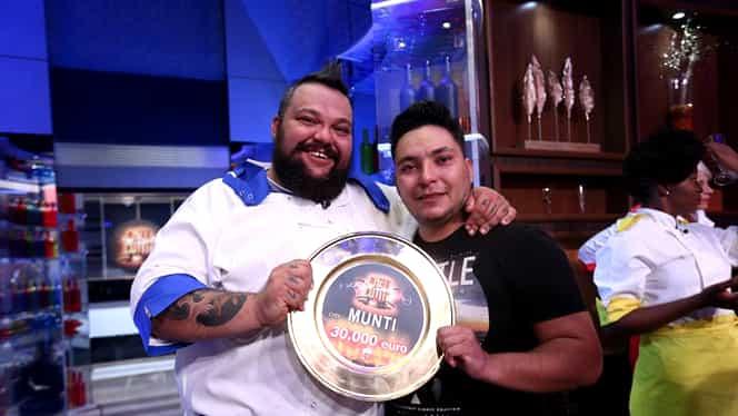 Mihai Munteanu, cunoscut ca Munti, e marele câștigător al Chefi la cuțite! A ajuns din greșeală în bucătărie