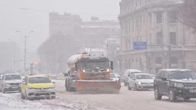 ALERTĂ! Ninge în București! Avertisment oficial de la ANM