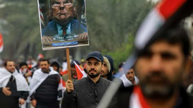 Sute de mii de irakieni au ieșit pe stradă în Bagdad! Aceștia protestează pentru plecarea soldaților americani