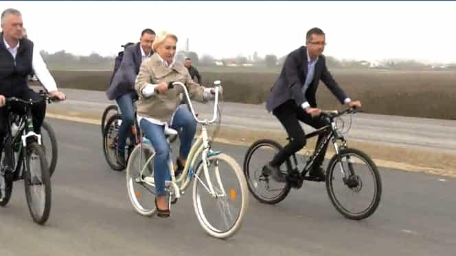 Viorica Dăncilă, surprinsă într-un mod inedit! S-a plimbat cu bicicleta pe centura Bacăului – Galerie foto