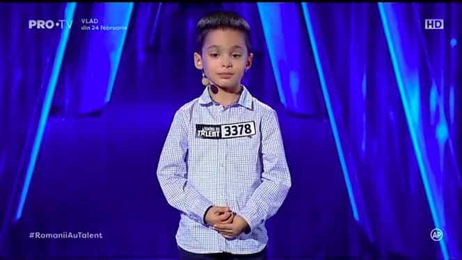 Cine este Theodor Marcu, copilul care a primit golden buzz de la Andi Moisescu la Românii au Talent. Băiatul a uimit cu calculele sale