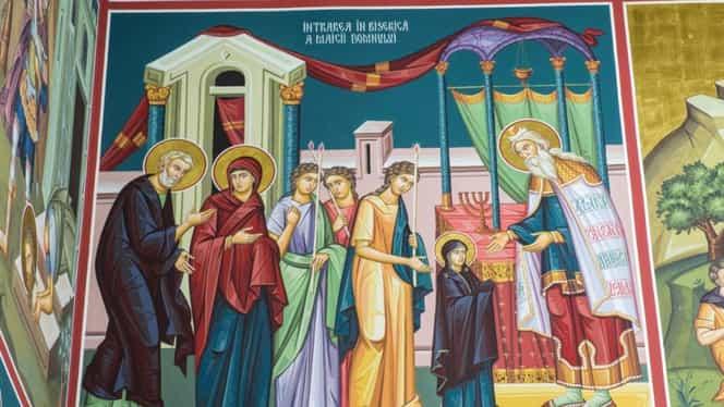 Calendar Ortodox 21 noiembrie- Intrarea Preasfintei Fecioare Maria în Templu