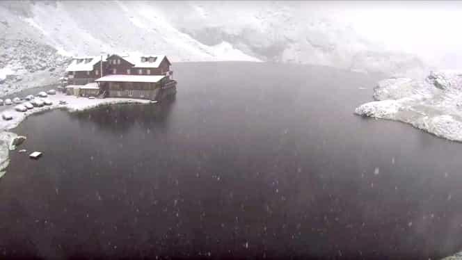 Zăpadă de 35 de cm la Bâlea Lac! Meteorologii, reacție imediată