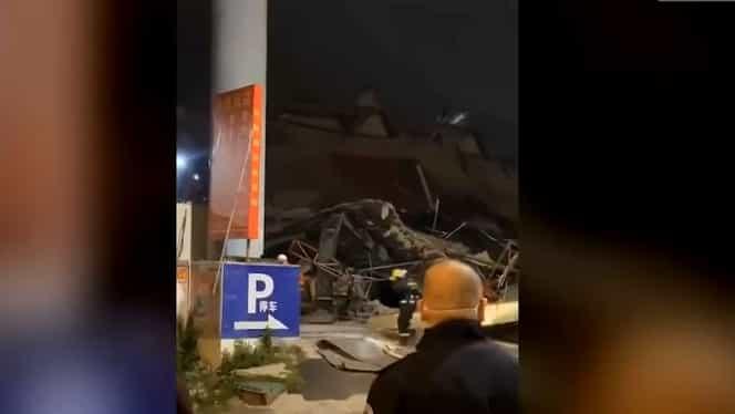 Un hotel din China folosit pentru a ține în carantină persoanele suspecte de coronavirus s-a prăbușit! Video