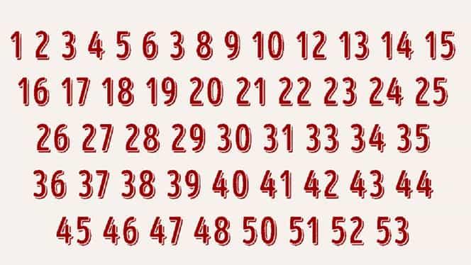 Puțini oameni reușesc să găsească cifrele care lipsesc din această înșiruire