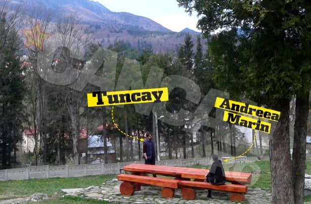 FOTO / Andreea Marin şi Tuncay, discuţie aprinsă în public
