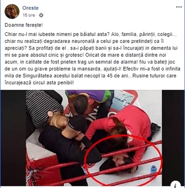 """Oreste îl face praf pe Mircea Badea: """"Un băiat cu probleme la mansardă"""""""