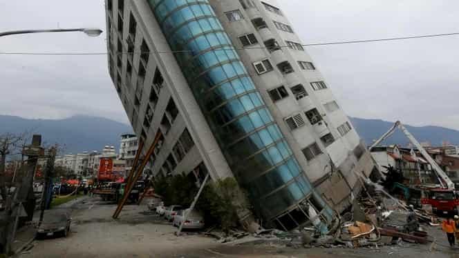 Foto. Cutremur puternic în Taiwan soldat cu patru morţi, 225 de răniţi şi 145 de persoane date dispărute