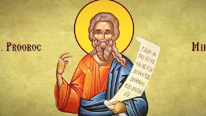 Calendar ortodox 14 august. Este prăznuit Sfântul Proroc Miheia