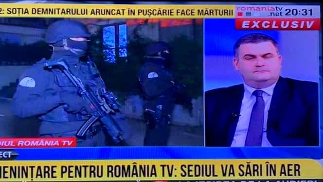 Alertă cu bombă la România TV! Pirotehniștii au venit de urgență la sediul televiziunii