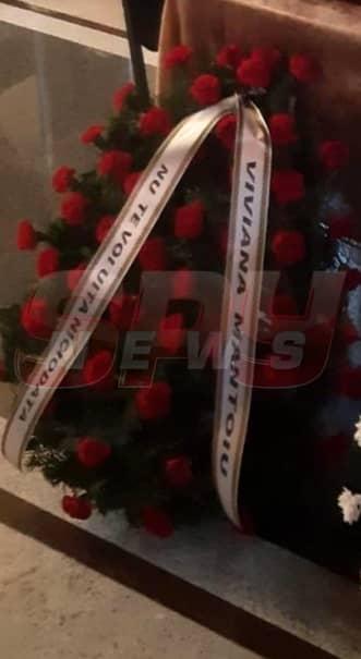 Cornel Galeș va fi înmormântat astăzi. Mesajul emoționant scris de Viviana pe coroana funerară