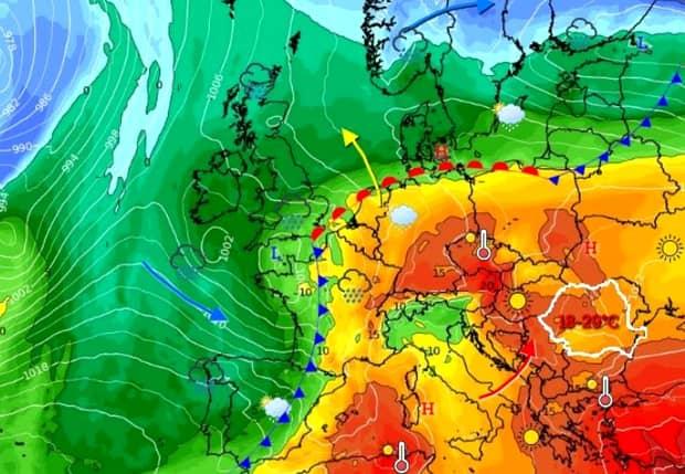 """ANM, prognoza meteo pentru următoarele două săptămâni! Vine """"vara indiană"""" cu temperaturi calde şi aer tropical"""