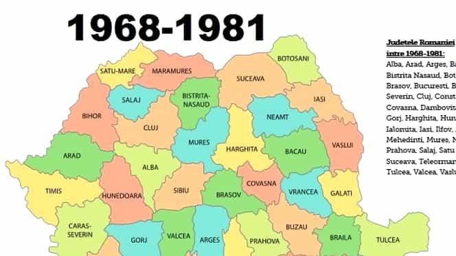 16 februarie, semnificaţii istorice. România renunţă la raioanele tipic sovietice şi se reorganizează în judeţe!