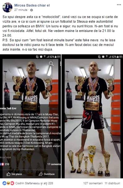 Mesajul postat pe Facebook de Mircea Badea