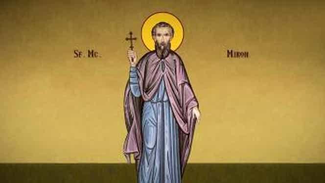Calendar ortodox sâmbătă, 17 august. Sunt cinstiți doi Sfinți: Sfântul Mucenic Miron și Sfântul Gheorghe Pelerinul