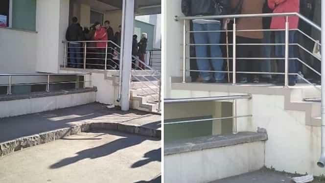 Un paznic a dat cu spray lacrimogen către pacienții care se înghesuiau într-un spital din Sfântu Gheorghe. Video