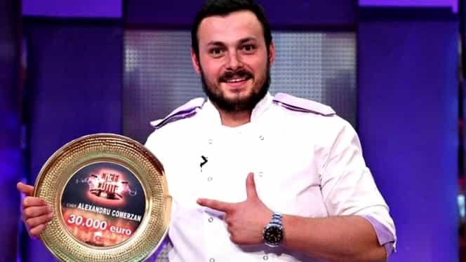 Povestea impresionantă a lui Alexandru Comerzan, câștigătorul Chefi la cuțite. Tatăl său nu a fost acord să devină bucătar