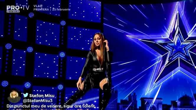 Dansatoarea maneliștilor, Denisa Despa, dans senzual, la Românii au Talent! Florin Călinescu, reacție de mii de like-uri. VIDEO