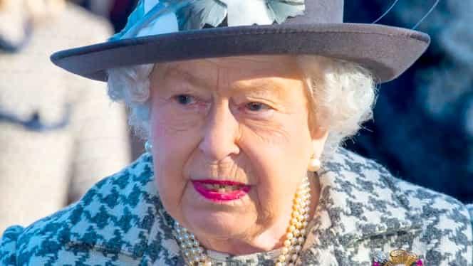 Regina Elisabeta a II-a, sprijin subtil pentru Prințul Harry. Suverana poartă o broșă primită cadou de la premierul Canadei. FOTO