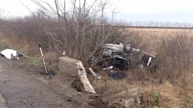 Accident grav pe Autostrada Vestului. Un om a murit, alți 3 au fost răniți. Elicopterul SMURD, chemat la locul tragediei