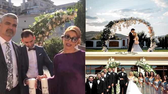 """Aurelian Temişan şi Monica Davidescu, lumânări cu mesaj surpriză la nunta Andreei Bălan: """"Vă suntem alături"""""""