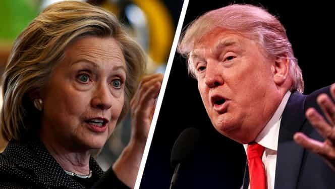 ALEGERI SUA. Hillary Clinton îşi menţine avansul în faţa lui Donald Trump