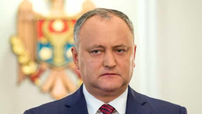 Igor Dodon, președintele din Republica Moldova, suspendat! Care a fost motivul