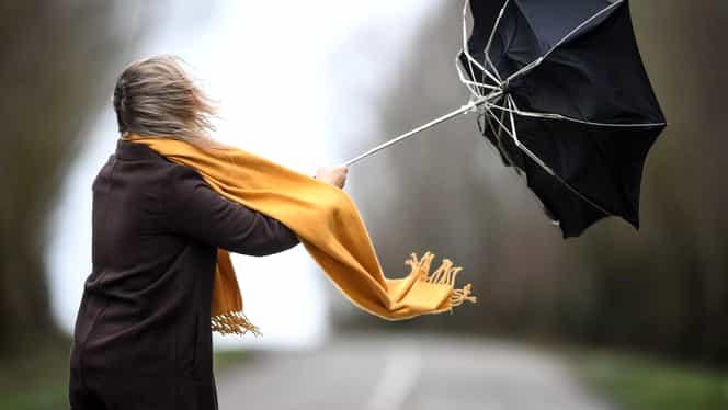 Cod galben de vânt puternic! Avertizarea este valabilă în mai multe județe